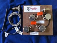 Prewired Kit Fits Gibson Epiphone Les Paul Short Shaft Pots Orange Drop Caps