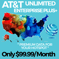 AT&T UNLIMITED 4G LTE HOTSPOT DATA PLAN $99.99/ MONTH UNTHROTTLED SIM CARD