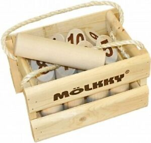 Molkky - Wooden Pin & Skittles Game - Outdoor Fun - For Beach - Park - Picnic