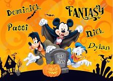 5x7 CUSTOM Disney Cruise Door Magnet - HALLOWEEN #2 - Graveyard