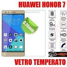 Pellicola in vetro TEMPERATO per Huawei HONOR 7 Oleofobica  ANTIURTO 0.26mm