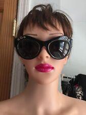 Versace Women Sunglasses Black/Gold rim Polarize PV0521619 Mod 4320 NWB