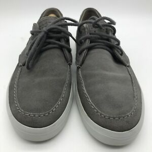 Men's Lacoste Grey Suede Casual Shoes Trainers UK 9 EUR 43 Lace Up