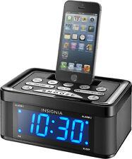 Insignia Alarm Clock USB Digital iPhone FM Radio NS-CLLT01