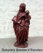 B2018388 - Grande ( 63 cm ) vierge à l'enfant en plâtre - Très bon état