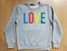 Love Moschino Men's Spell Out Logo Jumper Rainbow Logo Sweatshirt Pullover Sz M