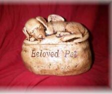 Ceramic/Pet/ Dog Urn cremation/memorial/angel