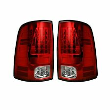 RECON 264169RD Dodge 09-14 RAM 1500 10-14 RAM 2500/3500 Red-Red Tail Lights LED