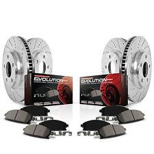 Power Stop Disc Brake Pad and Rotor Kit Front Rear fits 2010 BMW 335i xDrive