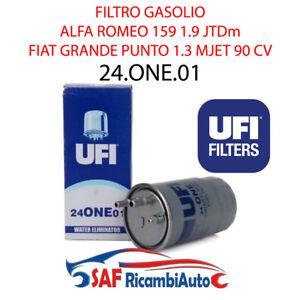 FILTRO GASOLIO UFI ALFA ROMEO 159 FIAT STILO PUNTO CROMA MITO 1.3 1.6 24.ONE.01