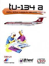 lh116/ Lift Here Decals - Tupolev Tu-134 - Aviogenex - 1/144 - TOPP