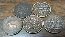 LOT of 5 DIFFERENT 1830's HARD TIMES TOKENS****