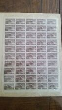 Canadian stamps full sheet of 50 MNH, Parliament Buildings, #442, 5c brown