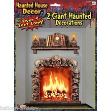 Halloween Espeluznante Haunted Mansion Chimenea Decoración de Pared Calcomanía Escena Setter