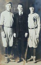 ANTIQUE 1901 - 1907 PROFESSIONAL? BASEBALL PLAYERS RARE EARLY RPPC PHOTO IL
