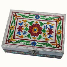 Casket Jewelry Box Box Chest Treasure Box Indian Meenakari Red
