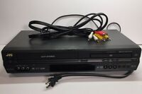 JVC HR-XVC26U DVD VHS VCR COMBO Video Cassette Recorder & Cables. Tested