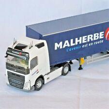 Volvo Fh4 Semi Bâchée 1/43 Tautliner Transports Malherbe - ELIGOR 115897