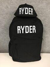 Kids Personalised Name Backpack & Snapback Flatbrim Hat