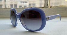 Ray-Ban Grey Gradient Blue Frame Nylon 55MM Ladies Sunglasses RB4208 61038G