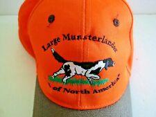 Large Munsterlander Club of N America Embroidered Hat Orange Hunting Dog Dogs