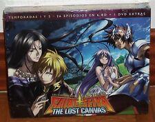 LOS CABALLEROS DEL ZODIACO THE LOST CANVAS 1ª-2ª TEMP. 6 BR+DVD EXTRAS NUEVO R2
