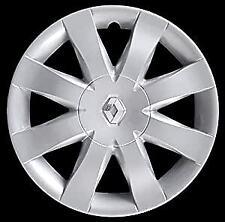 """SET 4 COPRICERCHI COPPE RUOTA RENAULT CLIO '08-L.CROMATO-15""""-NON ORIGINALI"""