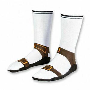 Pair of Novelty Fun Joke Sandal Socks Mens Size 5-11 UK secret santa stocking