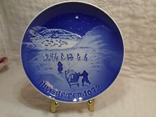 Royal Copenhagen Christmas Plate Jule After 1972 B&G In Greenland Dog Sled