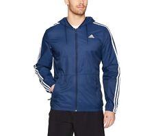 Men's Adidas Essential Windbreaker Jacket (X-Large) navy/white free shipping