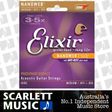 Elixir 16102 Acoustic Guitar Strings Nanoweb Medium 13-56 Phosphor Bronze