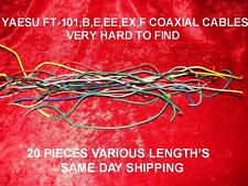 YAESU FT-101,B,E,EE,EX,F  RADIO'S 20 EA. COAXIAL CABLES USED IN THESE RADIO'S