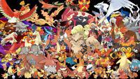 Pokemon Card Bundles 30 Fire Types - RARE / REV HOLO GUARANTEED NEW JOBLOT