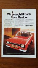 Ford Escort Mk1 Mexico Postcard Vintage Ad Galllery VF81PC Mint Rally 1600GT