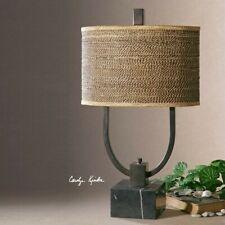 Uttermost Stabina Metal Table Lamp in Rustic Bronze
