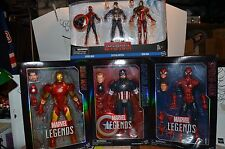 "Marvel Legends Civil War lot ICONS 12"" & 6"" IRON-MAN Captain America Spider-man"