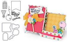 Sizzix Happy Birthday Stamps & Dies - Celebrate, Present, Balloon, Party Hat