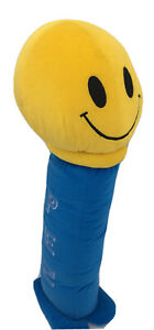 Pez Candy Blue Yellow Oversize Novelty Decorative Bed Pillow
