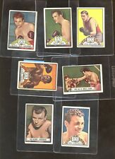 1951 Topps Ringside Boxing Card Lot 7 Different VG/VGEX