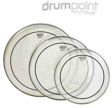"Remo Propack Fellsatz 12"" 13"" 16""  Pinstripe clear Drumheads"