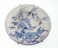 Rosenthal Keramik handgemalt craquele Schale Wandteller Vogel Blüte Vintage