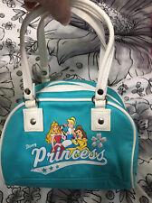 "Disney Princess Small Hand Bag for Little Girl - 8"" x 6"" Blue"