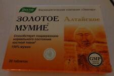 20 tab.  Golden Shilajit Altai Mumie Mumijo Pure exp.2022
