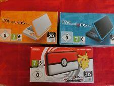 Nintendo New 2DS XL Konsole Schwarz/Blau wahlweise mit MarioKart7
