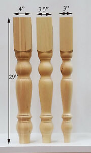 Farmhouse Dining Table Legs- Wood Legs. set of 4 hand made wood turning legs