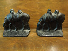 Vintage Cast Iron Horse Bookends