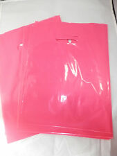 """100 9"""" x 12"""" Hot Pink GLOSSY Low-Density Plastic Merchandise Bags, Gift Bags"""