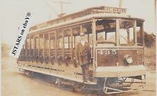 c.1910 COLUMBUS, OH, SULLIVANT STREET CAR POSTCARD RPPC
