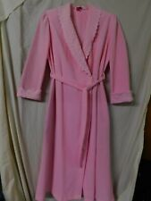 VINTAGE EVELYN PEARSON 3719 PINK LONG SCULPTED ROBE/SIZE LARGE/PRE-OWNED