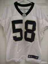 NEW ORLEANS SAINTS 58 White Embroidered Practice Jersey 12-44 Nike Berlin WI